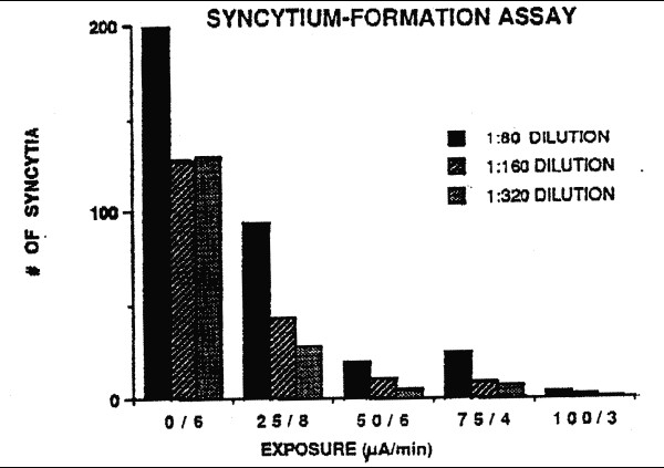 Results of a representative syncytium-formation assay
