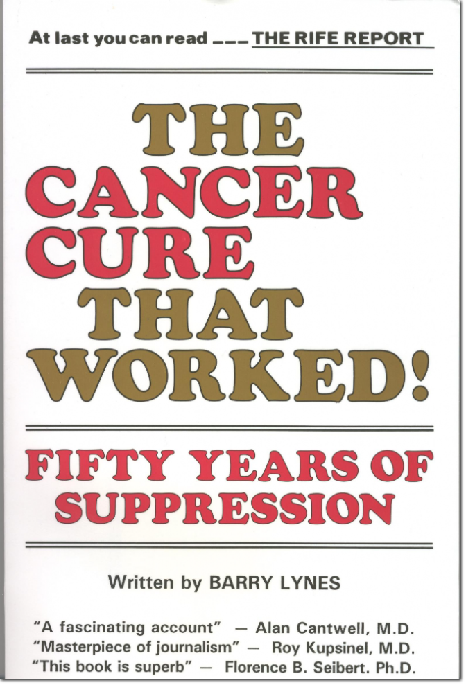 The Cancer Cure That Worked, Book