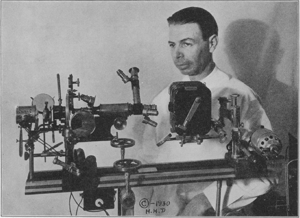 Royal Rife with one of his early microscopes